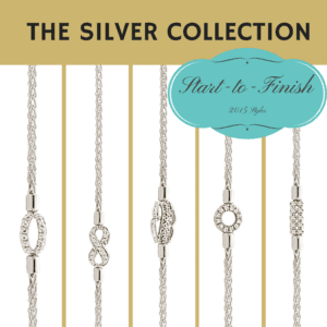 THE STERLING SILVER DIAMOND LINK BRACELET COLLECTION